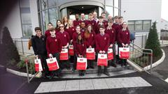 Transition Year Students on a Trip to Dairygold