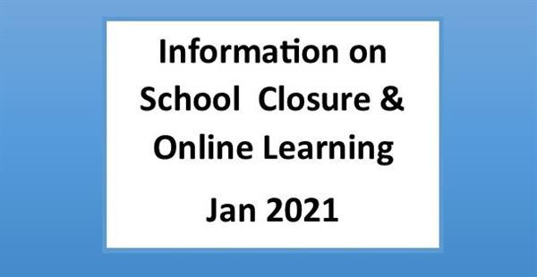 Information on January School Closure